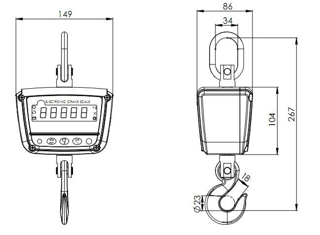 OCX-XZ-GGE-PLUS数码显示防水电子吊秤图纸